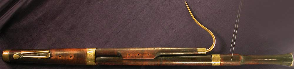 Early Musical Instruments, antique Bassoon by Wrede