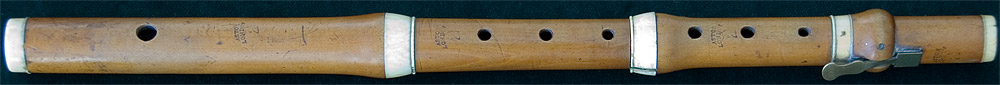 Early Musical Instruments, antique boxwood Flute by Astor