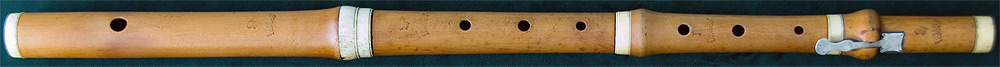 Early Musical Instruments, antique boxwood Flute by John Preston