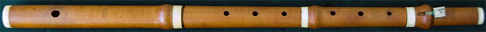 Early Musical Instruments, antique boxwood Flute by Pietro Grassi Florio