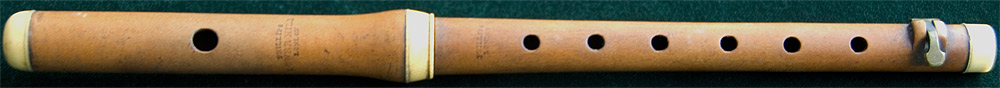 Early Musical Instruments, antique Boxwood Piccolo by William Phillips