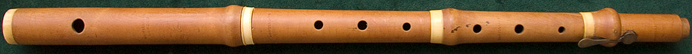 Early Musical Instruments, antique boxwood Flute by E. G. Williams