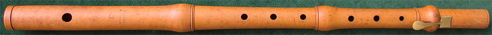 Early Musical Instruments, antique boxwood Flute by Milligan