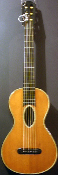 Early Musical Instruments part of the Bruderlin Collection, antique Romantic Guitar by Etienne Laprevotte 1844