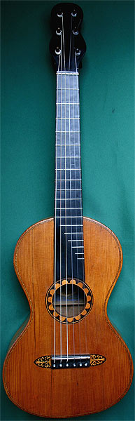 Early Musical Instruments part of the Bruderlin Collection, antique Romantic Guitar by Baum 1845
