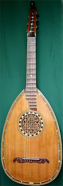 Early Musical Instruments part of the Bruderlin Collection, antique Lute Guitar by Anonymous 1920s