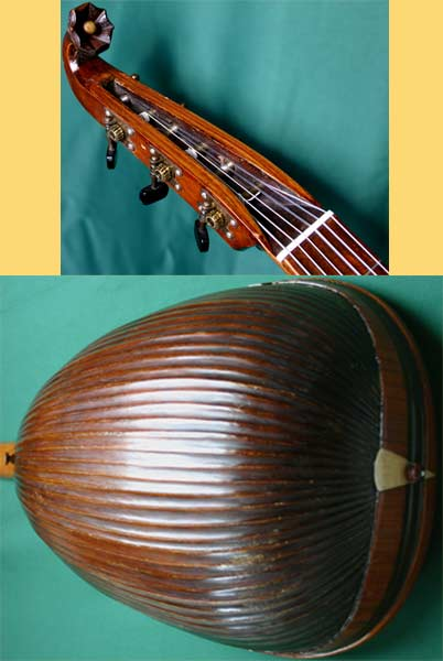 Early Musical Instruments part of the Bruderlin Collection, antique Lute Guitar by Baum 1920s