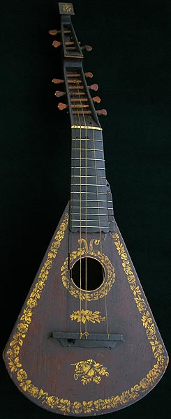 Early Musical Instruments part of the Bruderlin Collection, antique Arch Lute by Barry