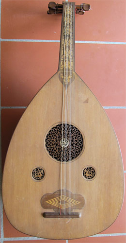 Early Musical Instruments part of the Bruderlin Collection, antique Oud by a Syrian Maker dated 1925-26