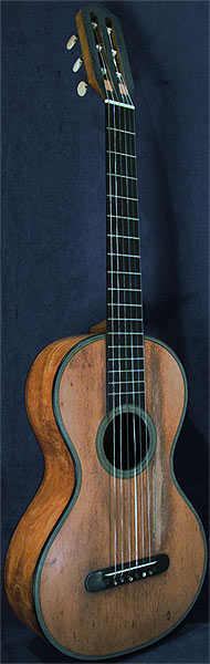 Early Musical Instruments part of the Bruderlin Collection, antique Romantic Guitar by René Lacote dated 1864