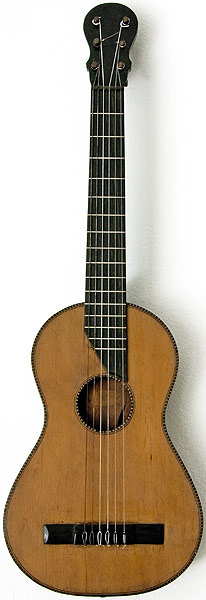 Early Musical Instruments part of the Bruderlin Collection, antique Romantic Double Top Guitar 1840s