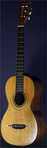 Early Musical Instruments part of the Bruderlin Collection, antique Romantic Guitar by G. L. Panormo dated 1864