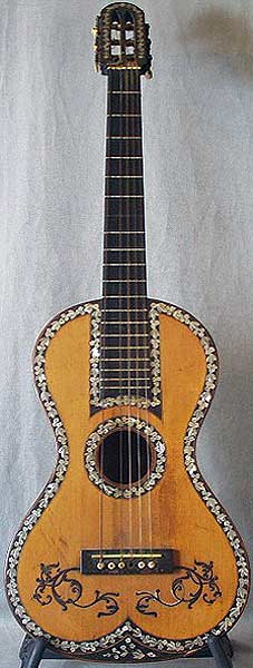 Early Musical Instruments part of the Bruderlin Collection, antique Romantic Guitar by Anonymous 1830s