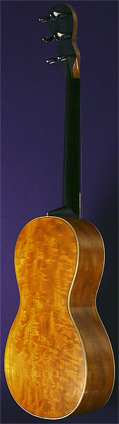 Early Musical Instruments part of the Bruderlin Collection, antique Romantic Guitar by Beau around 1820