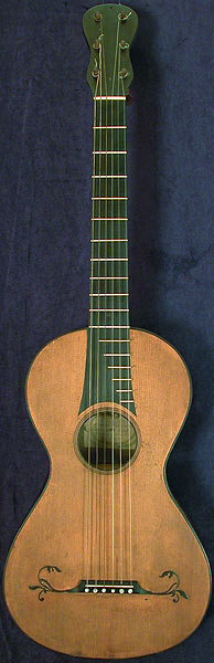 Early Musical Instruments part of the Bruderlin Collection, antique Romantic Guitar by Gennaro Fabricatore dated 1806