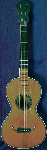Early Musical Instruments part of the Bruderlin Collection, antique Romantic Guitar by Blehee Mangin 1820s