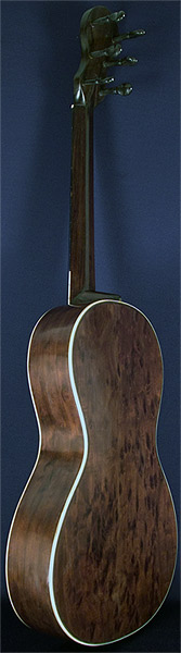 Early Musical Instruments part of the Bruderlin Collection, antique Romantic Guitar by Petit Jean 1820s