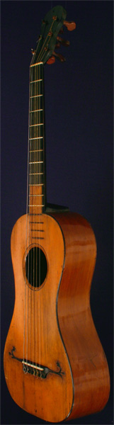Early Musical Instruments part of the Bruderlin Collection, antique Baroque Guitar by Carlo Guadagnini around 1800