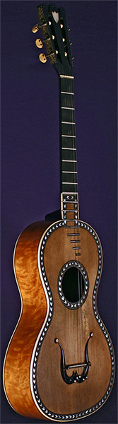 Early Musical Instruments part of the Bruderlin Collection, antique Romantic Guitar by Parizot dated 1830
