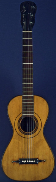 Early Musical Instruments part of the Bruderlin Collection, antique Romantic Guitar by Louis Panormo dated 1825
