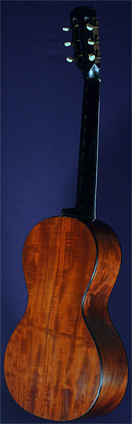 Early Musical Instruments part of the Bruderlin Collection, antique Romantic Guitar by Rene Lacote 1825