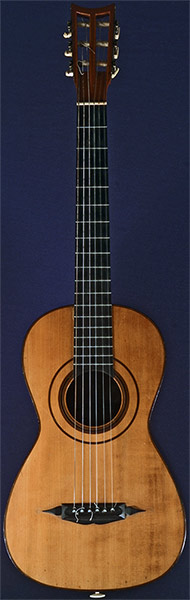 Early Musical Instruments part of the Bruderlin Collection, antique Romantic Guitar by Louis Panormo dated 1849