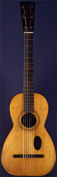Early Musical Instruments part of the Bruderlin Collection, antique Romantic Guitar by Antonio Lorca dated 1836