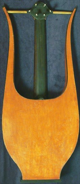 Early Musical Instruments part of the Bruderlin Collection, antique Romantic Guitar by Gennaro Fabricatore dated 1828