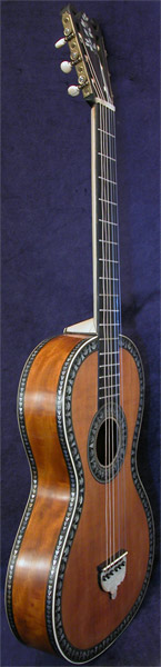Early Musical Instruments part of the Bruderlin Collection, antique Romantic Guitar by Canga dated 1812