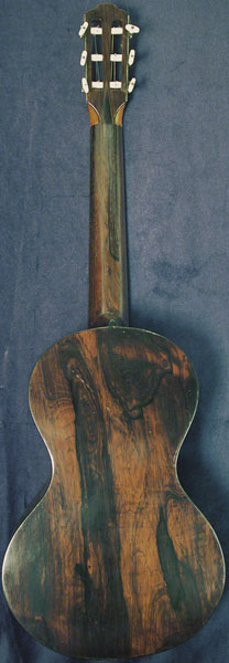 Early Musical Instruments part of the Bruderlin Collection, antique Romantic Guitar by Lacote around 1800