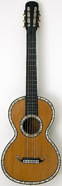Early Musical Instruments part of the Bruderlin Collection, antique romantic Guitar 1850s