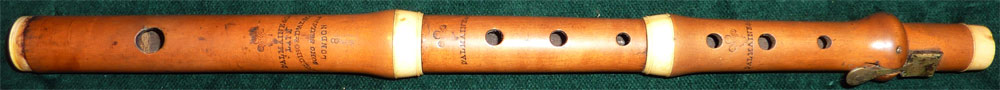 Early Musical Instruments, antique boxwood Flute by D'Almaine & Co.