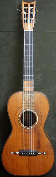 Early Musical Instruments part of the Bruderlin Collection, antique Romantic Guitar by Panormo 1828 for Huerta